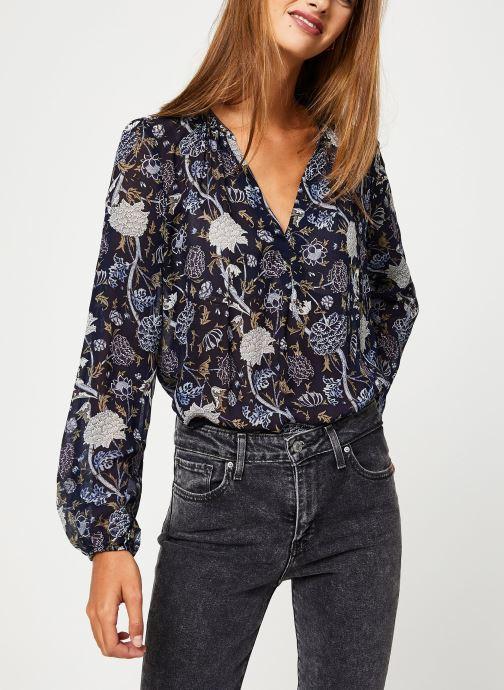 Vêtements IKKS Women Blouse Imprimee BP13345 Bleu vue détail/paire