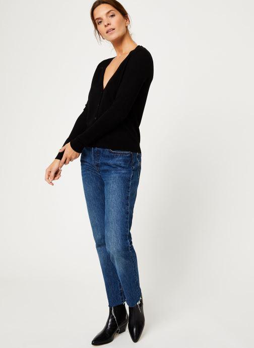 Vêtements IKKS Women Cardigan Boutons BP17095 Noir vue bas / vue portée sac