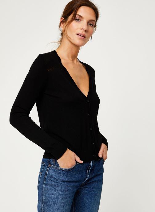 Vêtements IKKS Women Cardigan Boutons BP17095 Noir vue droite