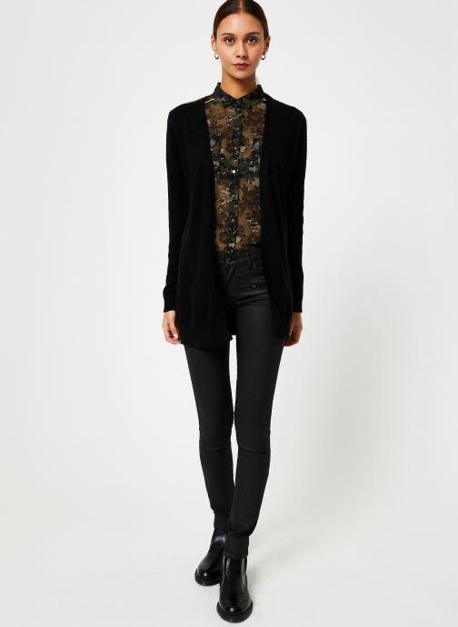 Vêtements IKKS Women Cardigan Noir Long Ceinture BP17125 Noir vue bas / vue portée sac