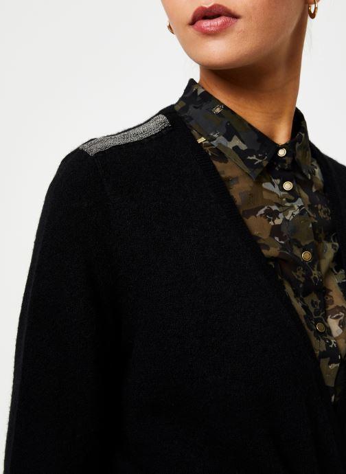 Vêtements IKKS Women Cardigan Noir Long Ceinture BP17125 Noir vue face