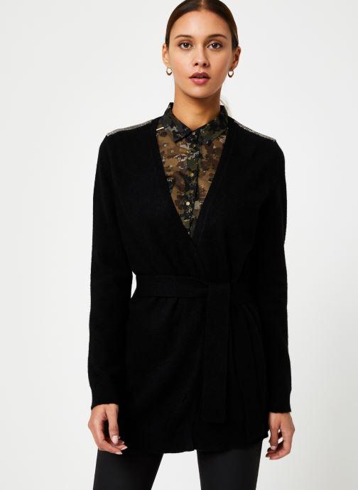 Vêtements IKKS Women Cardigan Noir Long Ceinture BP17125 Noir vue droite