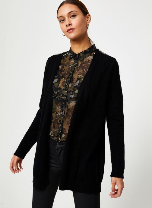 Vêtements IKKS Women Cardigan Noir Long Ceinture BP17125 Noir vue détail/paire