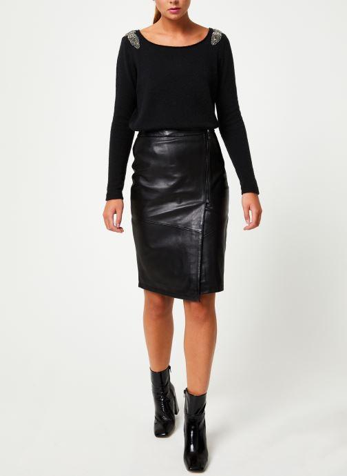 Vêtements IKKS Women Pull Bijou Noir BP18155 Noir vue bas / vue portée sac