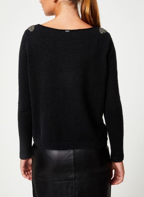 Vêtements IKKS Women Pull Bijou Noir BP18155 Noir vue portées chaussures