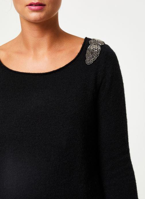 Vêtements IKKS Women Pull Bijou Noir BP18155 Noir vue face