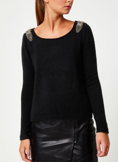 Vêtements IKKS Women Pull Bijou Noir BP18155 Noir vue droite