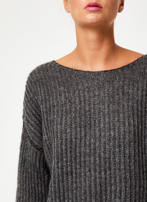 Vêtements IKKS Women Pull Gris BP18345 Gris vue face