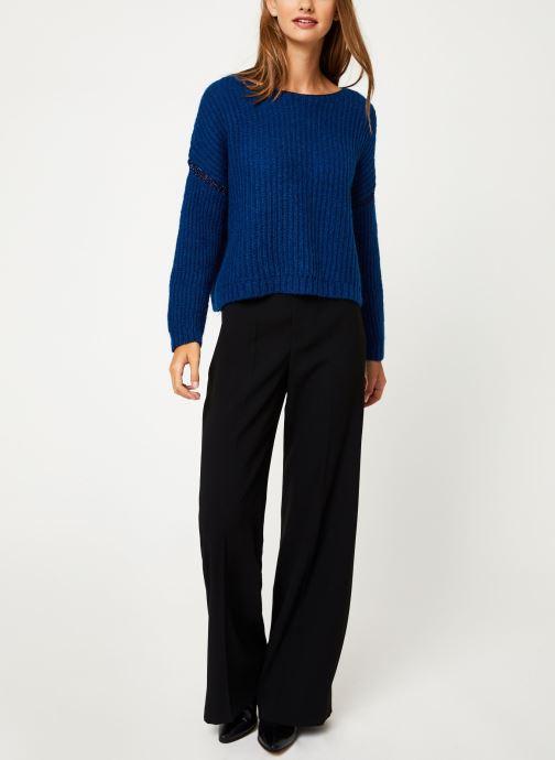 Vêtements IKKS Women Pull Bleu Cobalt BP18345 Bleu vue bas / vue portée sac
