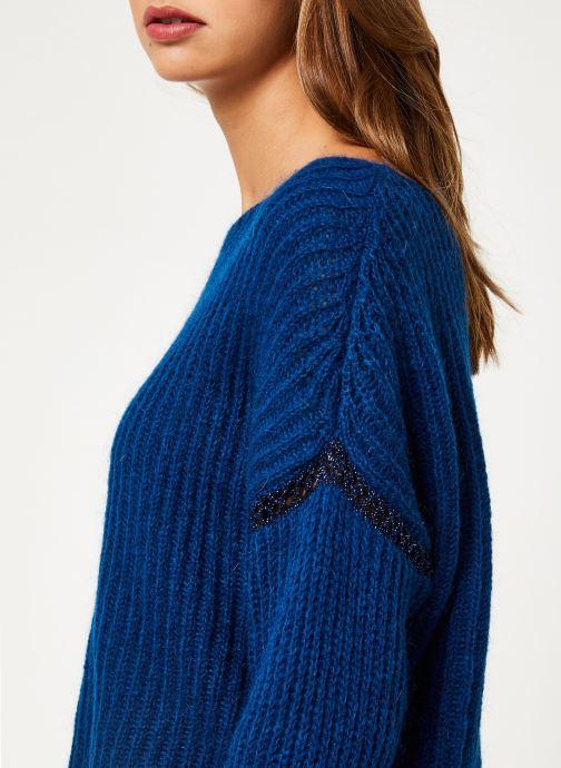 Vêtements IKKS Women Pull Bleu Cobalt BP18345 Bleu vue face