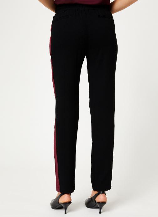 Vêtements IKKS Women Pantalon Crepe Satin BP22025 Noir vue portées chaussures
