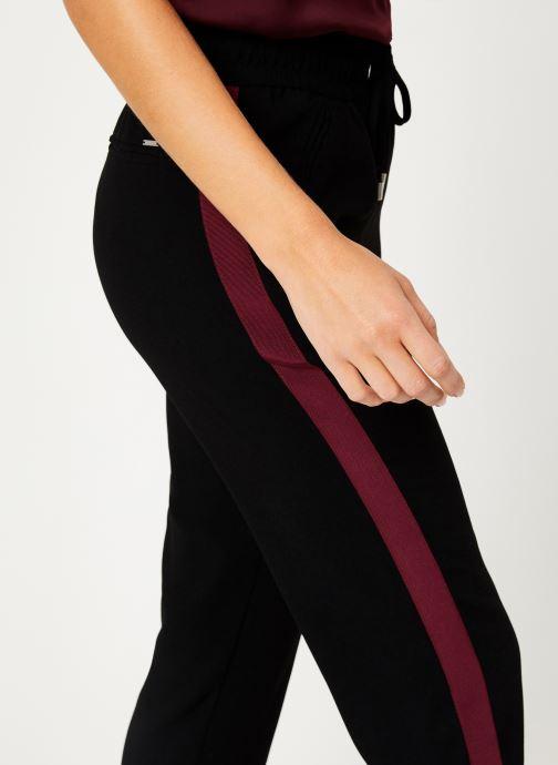 Vêtements IKKS Women Pantalon Crepe Satin BP22025 Noir vue face