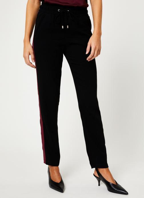 Vêtements IKKS Women Pantalon Crepe Satin BP22025 Noir vue détail/paire