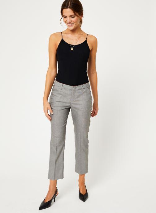 Vêtements IKKS Women Pantalon Fil À Fil BP22035 Gris vue bas / vue portée sac
