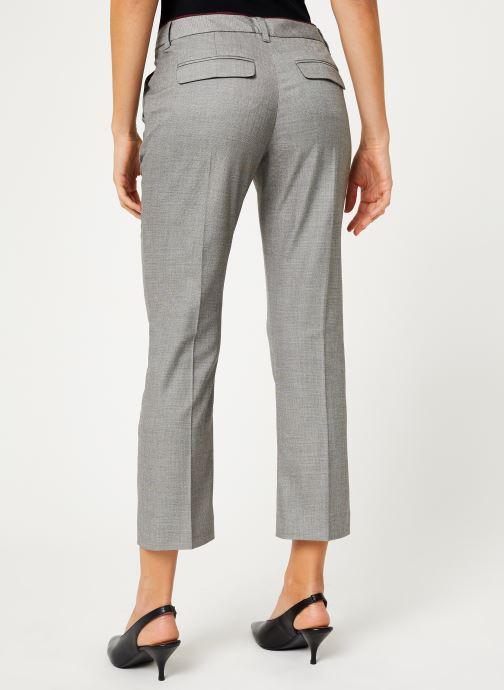 Vêtements IKKS Women Pantalon Fil À Fil BP22035 Gris vue portées chaussures