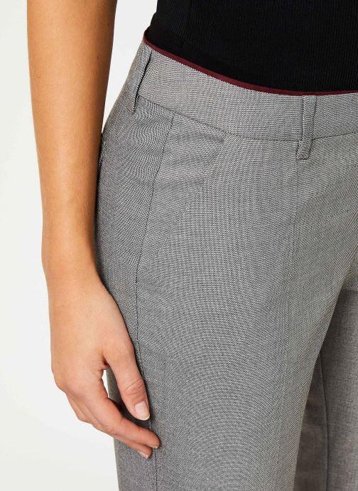 Vêtements IKKS Women Pantalon Fil À Fil BP22035 Gris vue face