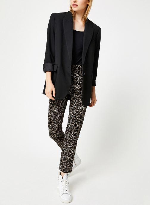 Vêtements IKKS Women Pantalon Imprimée BP22055 Noir vue bas / vue portée sac