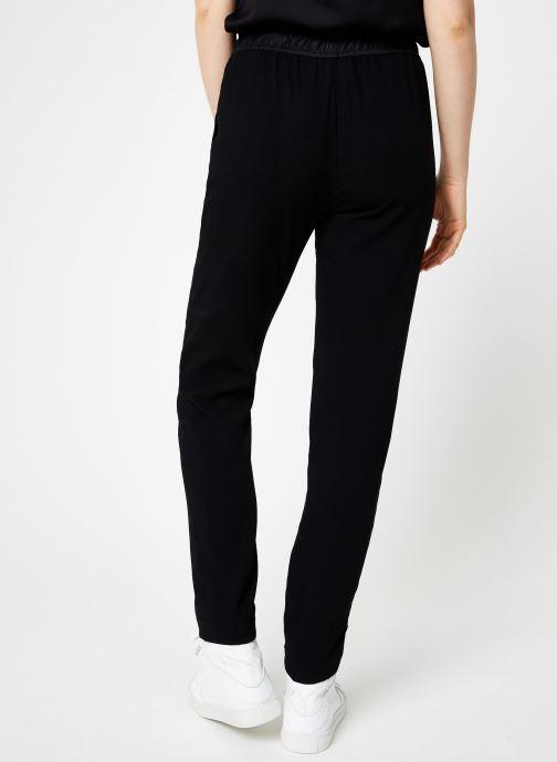Vêtements IKKS Women Pantalon Droit Elastique BP22185 Noir vue portées chaussures