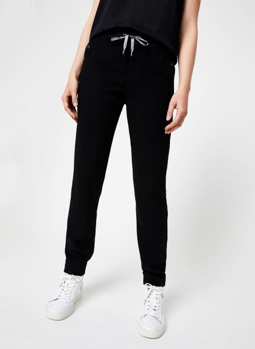 Vêtements IKKS Women Pantalon Droit Elastique BP22185 Noir vue détail/paire