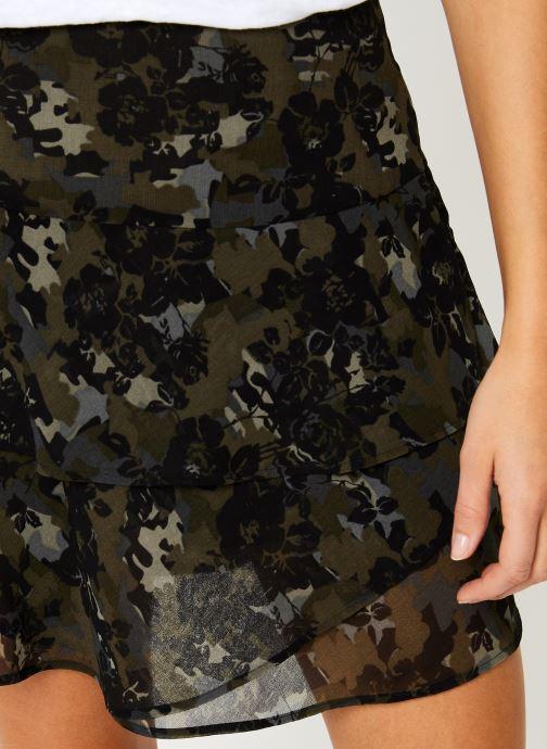 Kleding IKKS Women Jupe Camouflage Mi-Cuisse BP27055 Groen voorkant