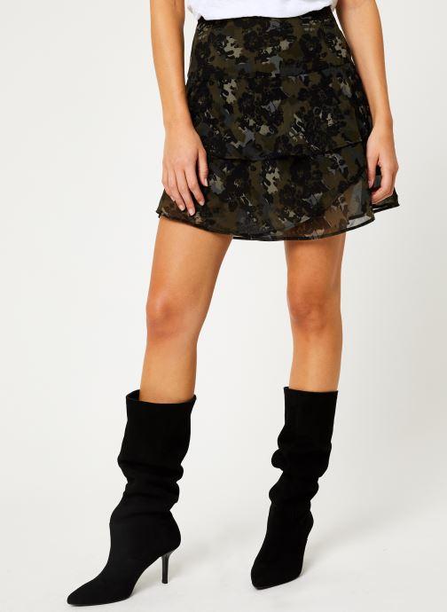 Vêtements IKKS Women Jupe Camouflage Mi-Cuisse BP27055 Vert vue détail/paire