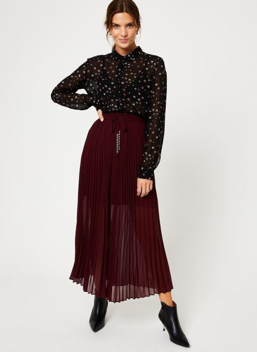 Vêtements IKKS Women Jupe Longue Cerise BP27155 Bordeaux vue bas / vue portée sac