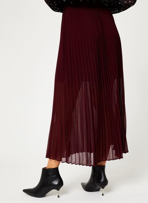 Vêtements IKKS Women Jupe Longue Cerise BP27155 Bordeaux vue portées chaussures