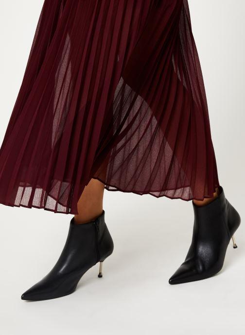 Vêtements IKKS Women Jupe Longue Cerise BP27155 Bordeaux vue face