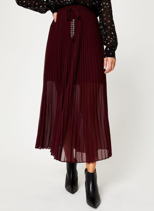 Vêtements IKKS Women Jupe Longue Cerise BP27155 Bordeaux vue détail/paire