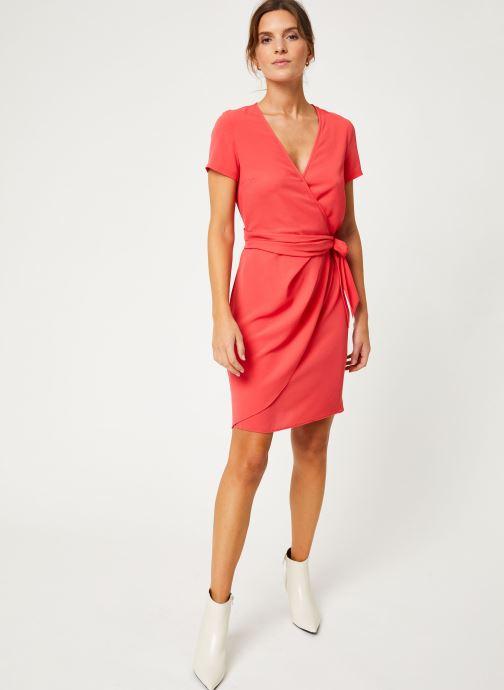 Vêtements IKKS Women Robe Dessus Genoux Fraise BP30075 Rouge vue bas / vue portée sac