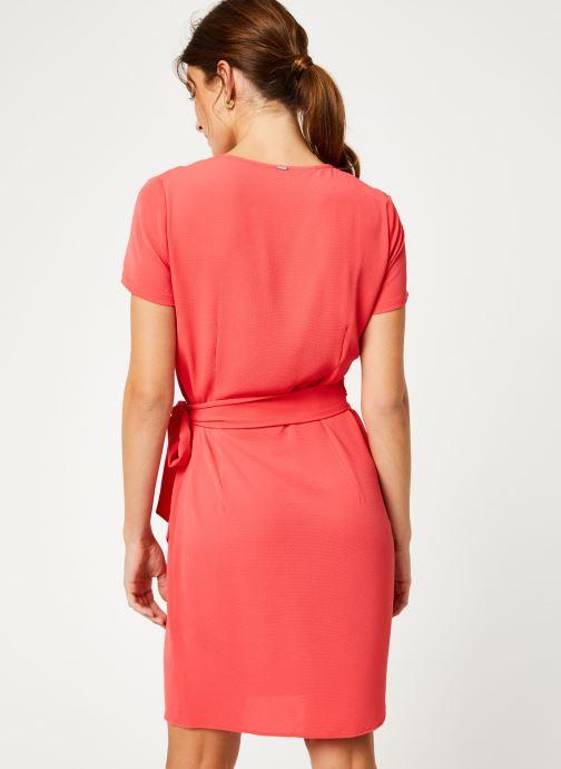 Vêtements IKKS Women Robe Dessus Genoux Fraise BP30075 Rouge vue portées chaussures