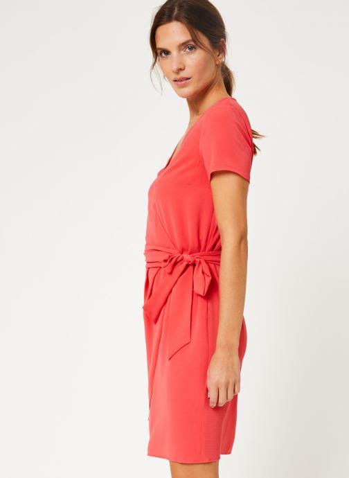 Vêtements IKKS Women Robe Dessus Genoux Fraise BP30075 Rouge vue droite