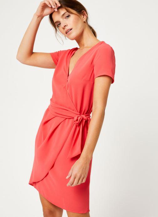 Vêtements IKKS Women Robe Dessus Genoux Fraise BP30075 Rouge vue détail/paire