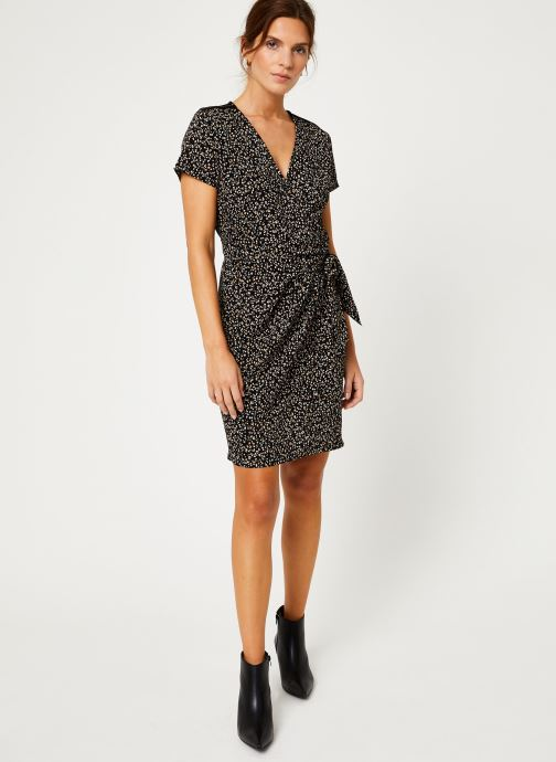 Vêtements IKKS Women Robe imprimee Leopard BP30165 Noir vue bas / vue portée sac