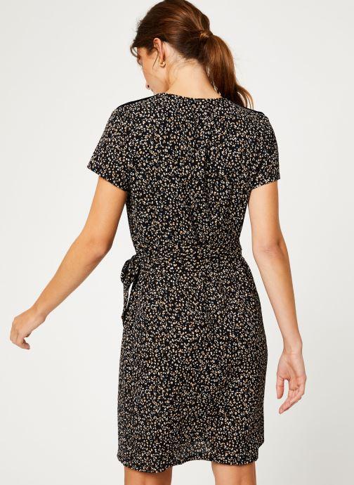 Vêtements IKKS Women Robe imprimee Leopard BP30165 Noir vue portées chaussures