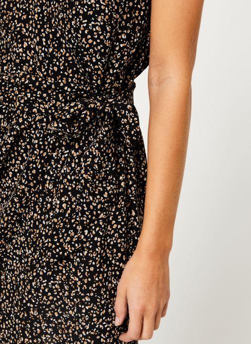 Kleding IKKS Women Robe imprimee Leopard BP30165 Zwart voorkant