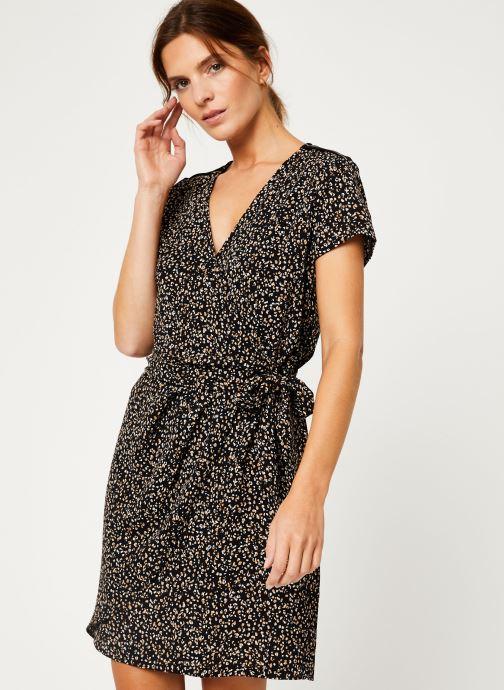 Kleding IKKS Women Robe imprimee Leopard BP30165 Zwart rechts