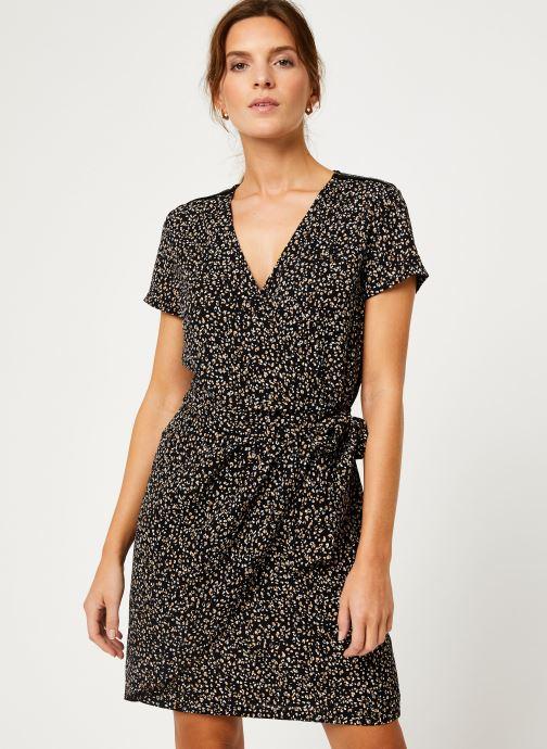 Vêtements IKKS Women Robe imprimee Leopard BP30165 Noir vue détail/paire