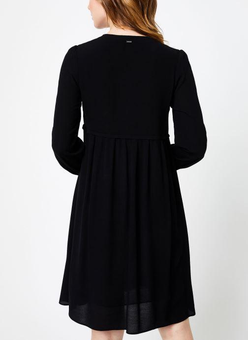 Vêtements IKKS Women Robe ML Noire BP30275 Noir vue portées chaussures