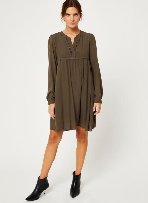 Vêtements IKKS Women Robe ML Kaki BP30275 Vert vue bas / vue portée sac