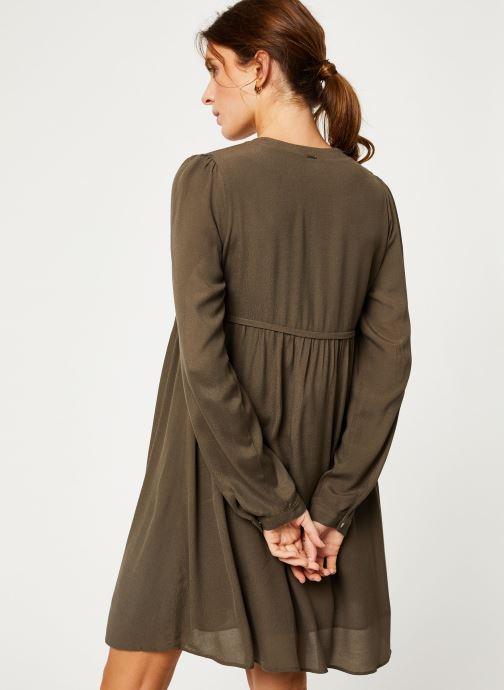 Vêtements IKKS Women Robe ML Kaki BP30275 Vert vue portées chaussures