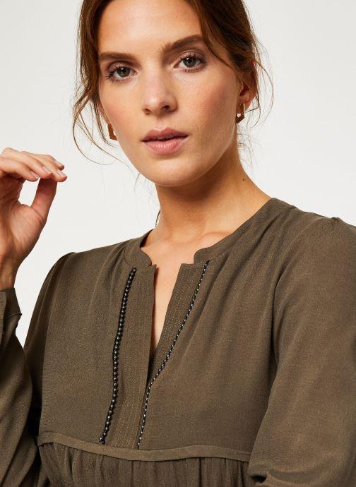 Vêtements IKKS Women Robe ML Kaki BP30275 Vert vue face