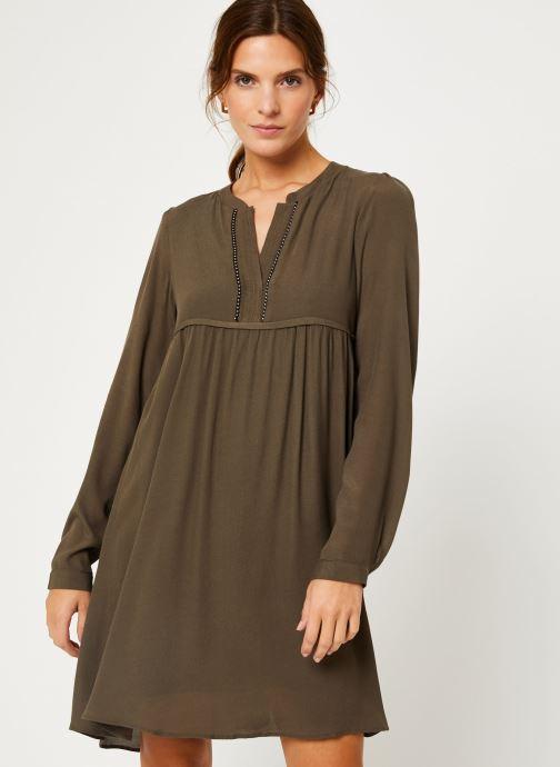 Vêtements IKKS Women Robe ML Kaki BP30275 Vert vue droite