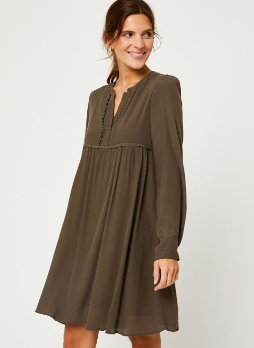 Vêtements IKKS Women Robe ML Kaki BP30275 Vert vue détail/paire