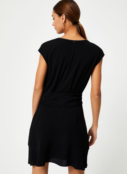 Vêtements IKKS Women Robe Drapée BP30285 Noir vue portées chaussures