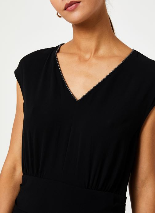 Vêtements IKKS Women Robe Drapée BP30285 Noir vue face