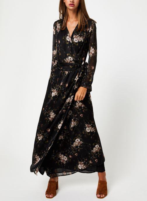 Kleding IKKS Women Robe Longue Fleur BP30435 Zwart onder