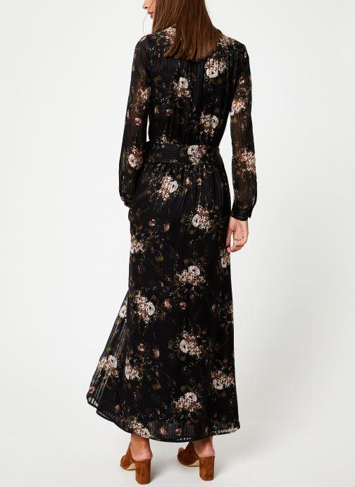 Vêtements IKKS Women Robe Longue Fleur BP30435 Noir vue portées chaussures