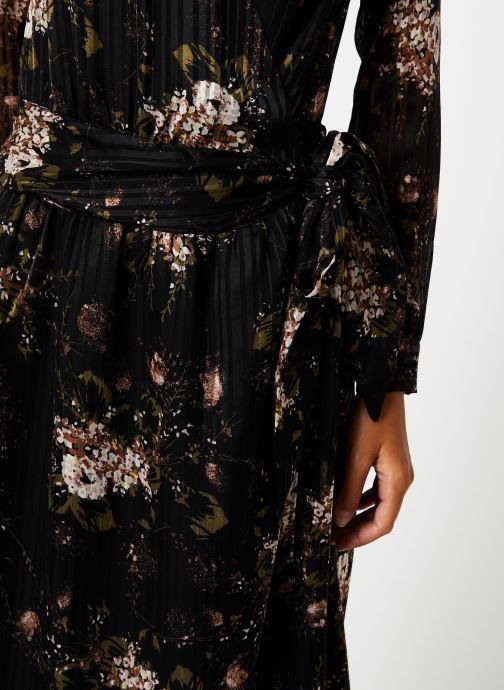 Vêtements IKKS Women Robe Longue Fleur BP30435 Noir vue face