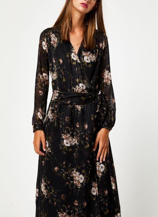 Kleding IKKS Women Robe Longue Fleur BP30435 Zwart detail
